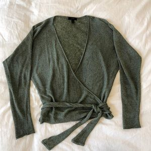 J. Crew Light Sweater Wrap Top